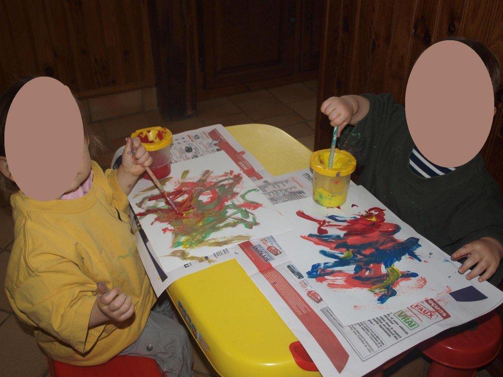 Christelle assistante maternelle a naintre atelier coloriage for Colorie de peinture