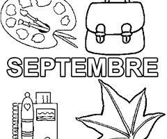 SEPTEMBRE : bonne rentrée scolaire ( dessins et chansons ) dans ATELIER COLORIAGE coloriage-septembre